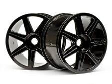 HPI 7 Spoke Black Chrome Wheels for Trophy Truggy 101156