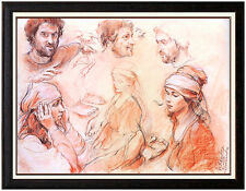 Sheldon Schoneberg Original Pastel Painting Signed Large Portrait SC Artwork SBO