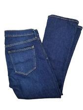 Gap 1969 Jeans Womens Authentic Crop Kick Dark Wash Size 28r