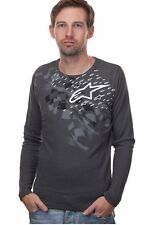 Alpinestars Buckshot Gray Thermal Motocross Atletic L/S mens T shirt size Small