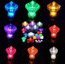 3 6 12 24 DIAMOND Led Submersible Waterproof Wedding Decoration Party Tea Light