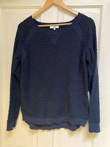JAG Blue/Black Cotton Knit Jumper - Size L