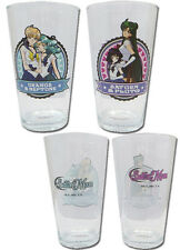 Sailor Moon Uranus and Neptune, Pluto and Saturn Glass Cup Set NEW