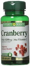 Natures Bounty Cranberry Fruit Plus Vitamin C, 4200mg (120 Softgels)