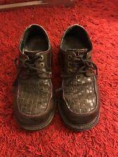 8ffbc600c46 Vtg 90s MURO Brown Chunky Heel Platform Club Goth US 7
