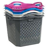 Stack-able Washing Clothes Hamper Laundry Basket Storage Bathroom Linen Bin
