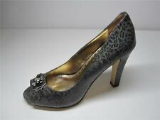 High (3 in. and Up) Leather Animal Print Slim Heels for Women