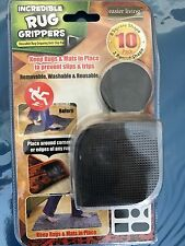 10 Pack Incredible Rug Grippers - Removable, Washable & Reusable - NEW in PKG