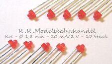 10 Stück LED 1,8 mm rot Miniatur Led s, Neu (25)