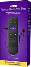 New 2021 Roku Voice Remote Pro RCS01R w/ Headphone Out & Rechargeable Battery
