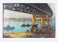 Jack Lorimer Gray Brückenbau New York Kunstdruck Poster Bild Lichtdruck 102x69cm