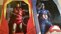"""NECA Avengers 1 Iron Man MK7+Captain America 18""""1/4 Action Figure Marvel Endgame"""
