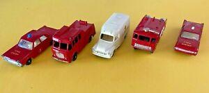 Lot of 5 Vintage Matchbox Lesney Emergency Vehicles