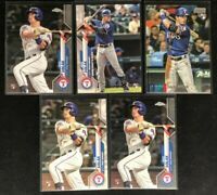 Nick Solak -Texas Rangers-5 Rookie Cards- 2020 Topps Series 1,Update,2 Chrome