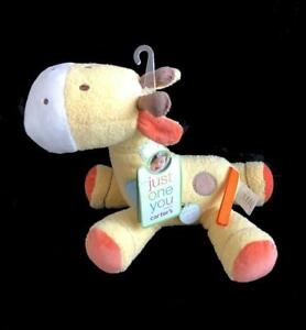 """Carter's Baby Musical Action Giraffe 10"""" Plush Just One You New Yellow Wind-up"""