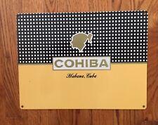 Cohiba Cigar Tobacco Tobacciana Aficionado Smoke Humidor Cuba Vintage Metal Sign