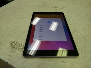 AS IS Apple iPad 5th Gen. 128GB, Wi-Fi, 9.7in - Space Gray Tablet LOCKED