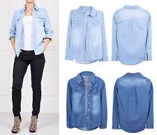 Women's Mandarin Collar Polyester Tops & Shirts