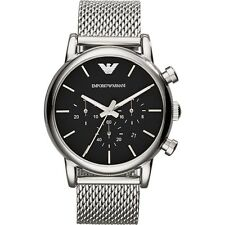 NEW EMPORIO ARMANI AR1811 MENS MESH LUIGI WATCH - 2 YEARS WARRANTY