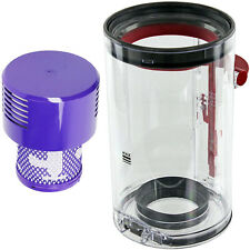 Dust Bin Container + Washable Filter for DYSON V10 SV12 Animal Absolute Vacuum