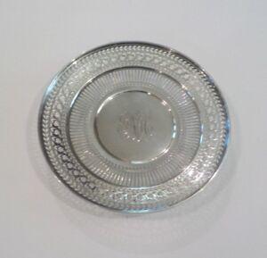 "Watson Sterling Silver Reticulated 8"" Sandwich/Dessert Plate / Tray, #4558"