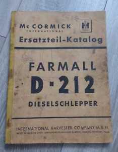 Mc Cormick Dieselschlepper D212 Ersatzteilliste