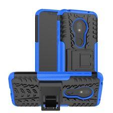 Für Motorola Moto G7 Play Hybrid Case 2teilig Outdoor Blau Tasche Hülle Etuis