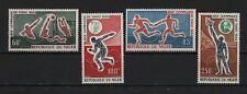 NIGER 1964 TOKYO OLYMPIC GAMES WATER POLO DISCUS THROW  POSTAS TORCH SC# C45 C48