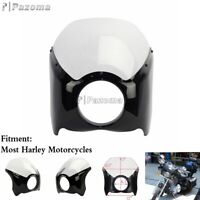 ABS Narrow Motorcycle Windshield + Headlight Fairing For Harley Sportster Dyna