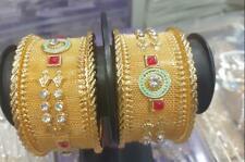 Indian CZ Jewelry Bangle Bracelet 2 Ethnic Traditional Set Bollywood Kada