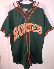 Teamwork Athletic Apparel Baseball Jersey - Hokies - #32 - Green White Orange