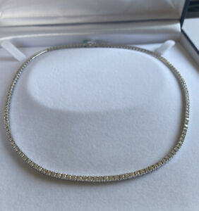 Necklace Tennis White Gold 18kt. with Natural Diamonds Ct. 5,58 G Vs