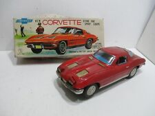 1963 Corvette Battery Op With Opening Head Lights & Working Horn N Mint In Box