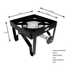 GAS ONE 200,000 BTU Square Heavy- Duty Single Burner Outdoor Stove Propane Gas