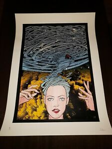 "Malleus Art Print Poster ""Tornado"" Limited edition XX/53"