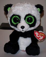 "Ty Beanie Boos ~ BAMBOO the 6"" Panda (Sparkly / Shiny Ears / Glitter Eyes) MWMTS"