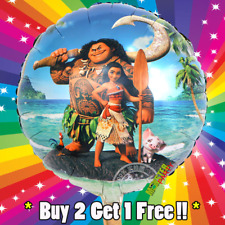 New Disney Moana Birthday Party Balloon girl foil latex Balloons