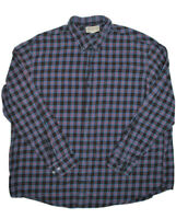 Duluth Trading Co Mens Button Up Flannel Shirt Size 2XL Plaid Long Sleeve Casual