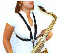 BG S41CMSH Women's Alto/Tenor/Baritone Sax Comfort Harness with Metal Snap Hook