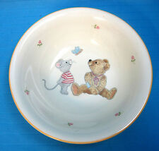 Mikasa China Soup Salad Cereal Bowl #CC018 Teddy Bear & Mouse Design White