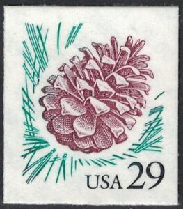 Scott 2491- Pine Cone, Flora and Fauna Series- 29c MNH (S/A) 1993- mint stamp