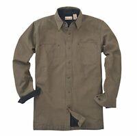 Backpacker Canvas Fleece Lined Shirt Jacket 7043 Moss Green 3XLT XXXL TALL New