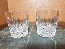 """2 Cristal D'Arques """"Constance"""" Double Old Fashioned Tumblers Glasses 3 5/8"""""""