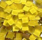 100 Blueriverglass YELLOW  Mosaic Glass Tiles SUPPLIES made in USA