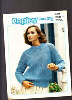 Vintage Knitting Pattern, Copley, Ladies Sweater, 32-40in,  9277 A
