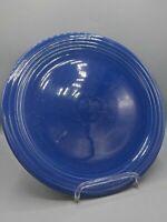 Vintage Homer Laughlin 12in Chop Cake Plate Fiesta Ware Cobalt Blue Charger