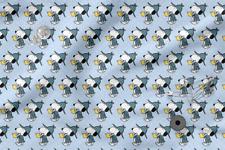 "Printed cotton 100% Eco-print ""Snoopy"" #6, Printed Fabric"