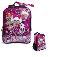 "Lol Surprise! 15"" Large School Backpack Girl's Book Bag"