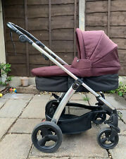 mamas and papas travel system Sola 2 Pushchair Carrycot  Mulberry