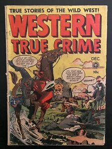 Western True Crime 3 Low Grade Comic Book CL69-243